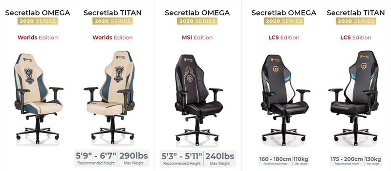 Secretlab League of Legends chairs