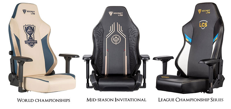 Secretlab League of Legends gaming chairs