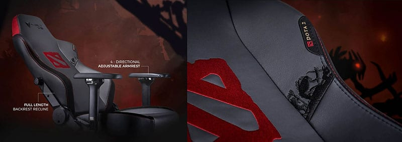 Secretlab Dota 2 gaming chairs