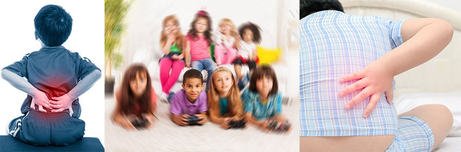 Kids suffer back pain gaming on the floor