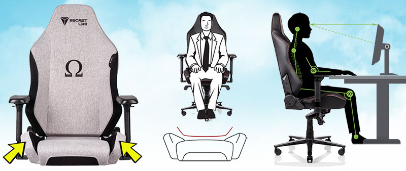 Compact pro esports chair features