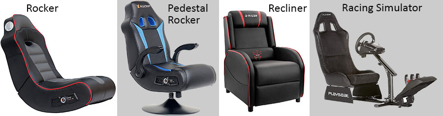 Console gaming chair four types