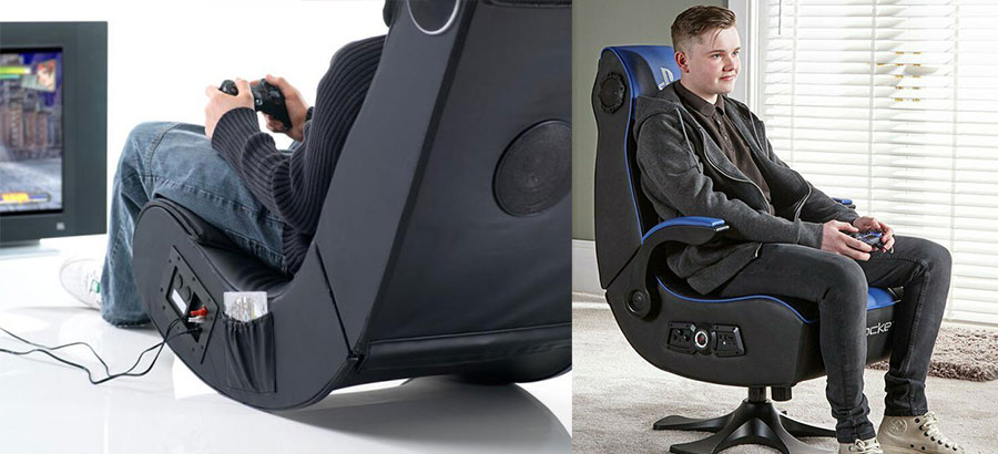 Console gaming chairs in the living room