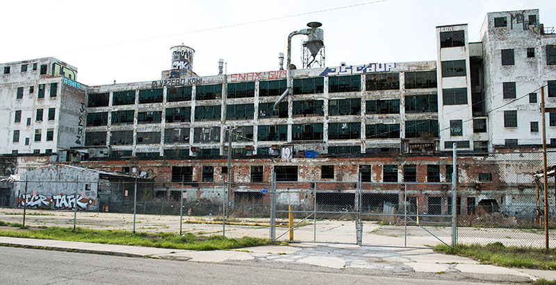 Detroit car factory closed