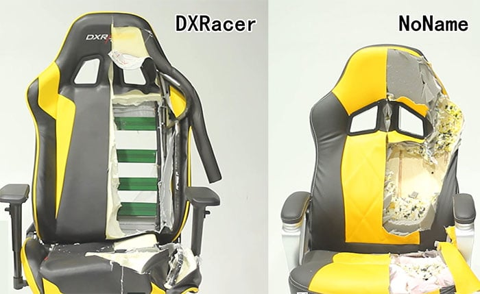 DXRacer vs knockoff fake brand