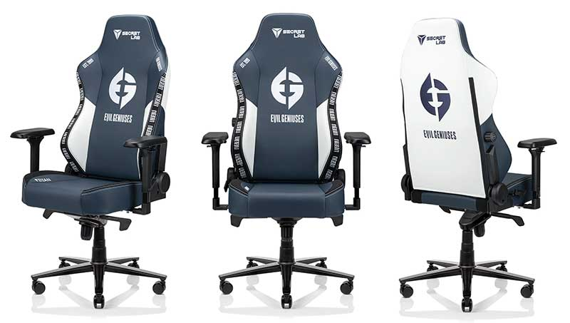 Secretlab Evil Geniuses gaming chairs