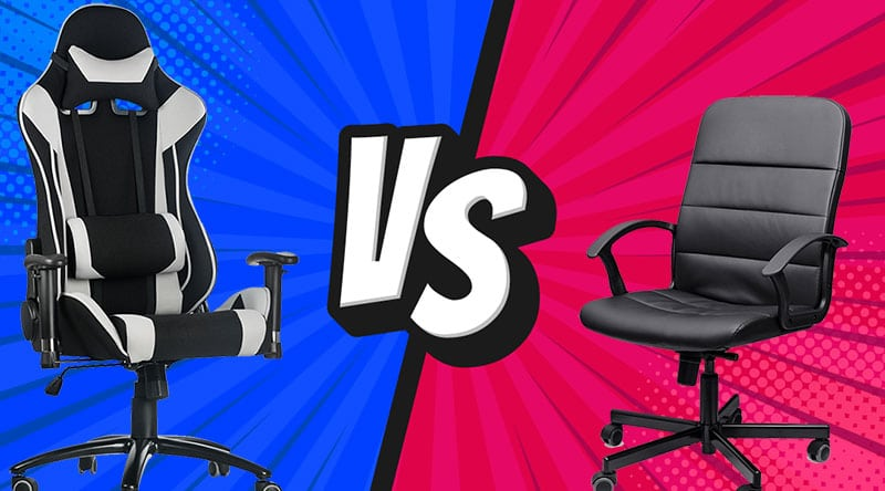 Gaming chairs vs office chairs compared