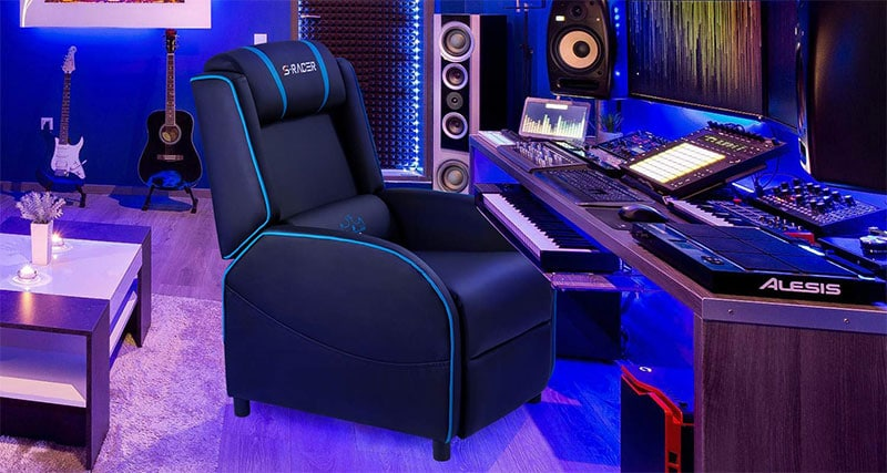 Homall gaming recliner as desk chair