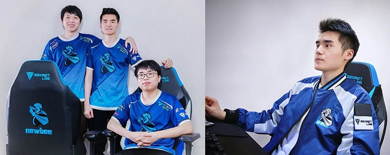 Team Newbee Secretlab Omega special edition gaming chairs