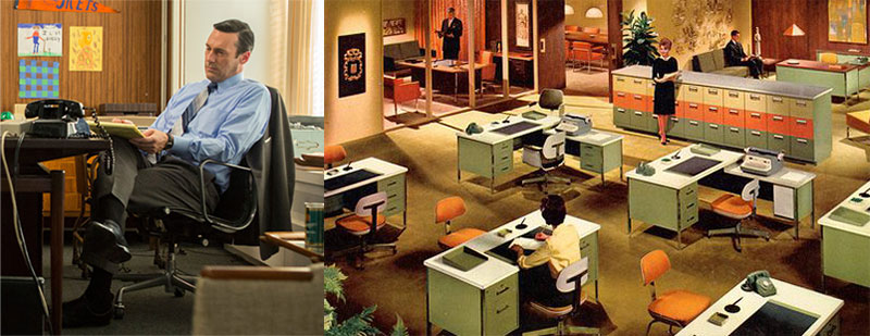 Office ergonomics in the 1960s