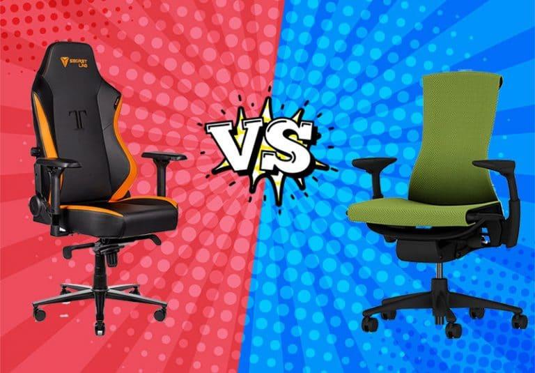 PC gaming chairs vs ergonomic task chairs