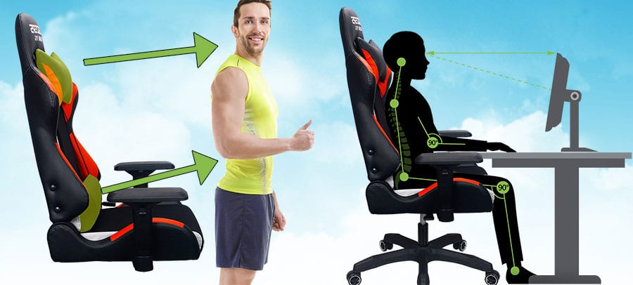 Ergonomic features of gaming chairs