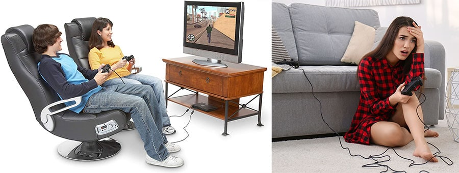 Console gaming chairs versus gaming on the floor