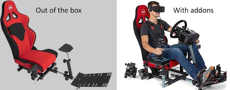 Openwheeler Advanced Racing Simulator Seat Driving Simulator Gaming Chair