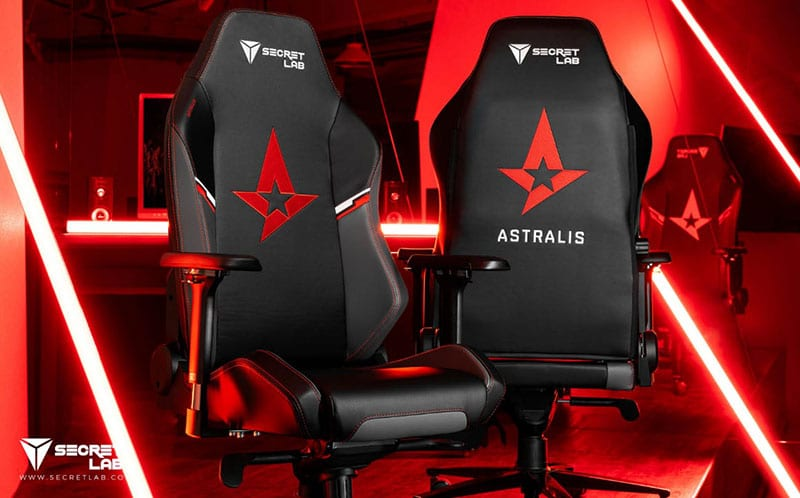 Secretlab Astralis gaming chairs