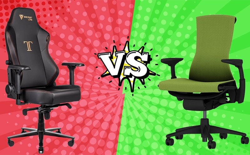 Secretlab Titan vs Herman Miller Embody
