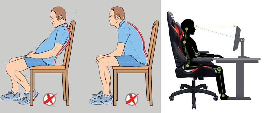 Traditional PC gaming chairs