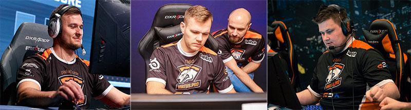 Virtus.pro team members using DXRacer chairs