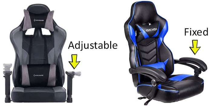 Classic versus modern footrest gaming chairs