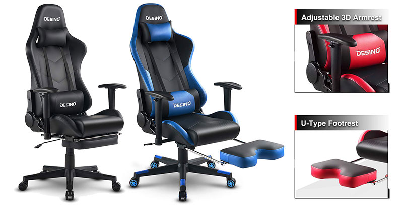 Desino DSO-2000 footrest gaming chairs