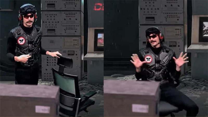 Dr. Disrespect with Sidiz T80 task chair