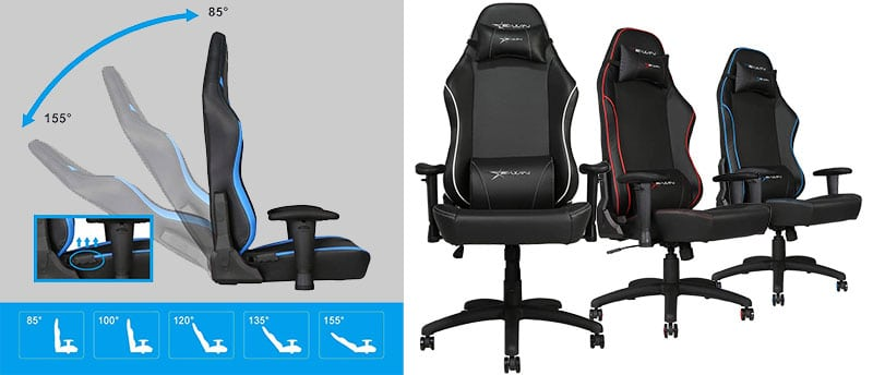 E-Win big and tall chair features