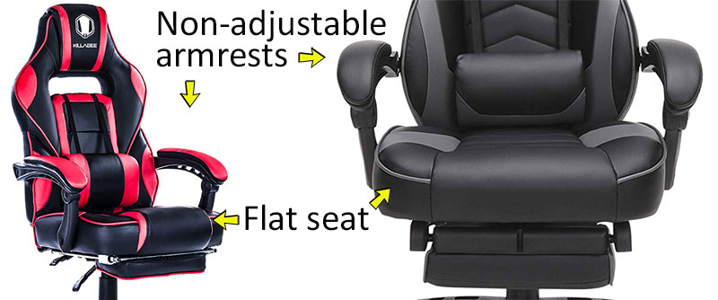 Classic footrest gaming chair defining features