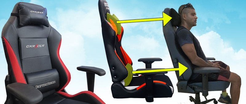 Gaming chair backrest support