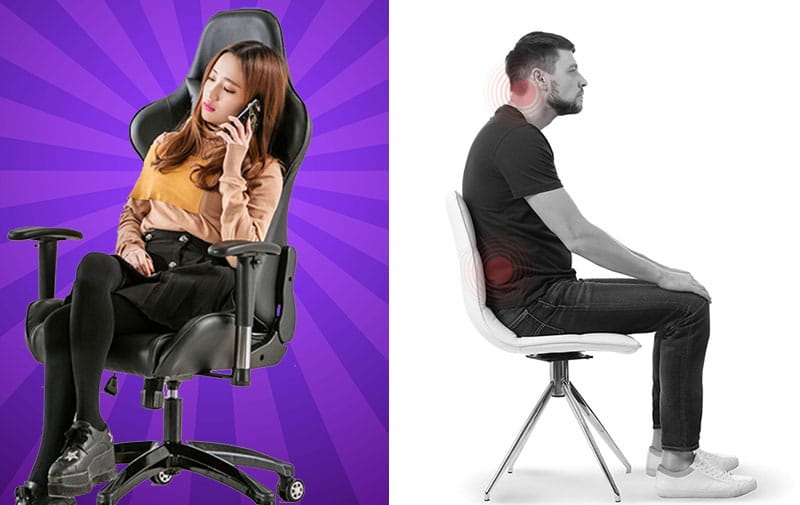 Gaming chairs are better for your back than office chairs