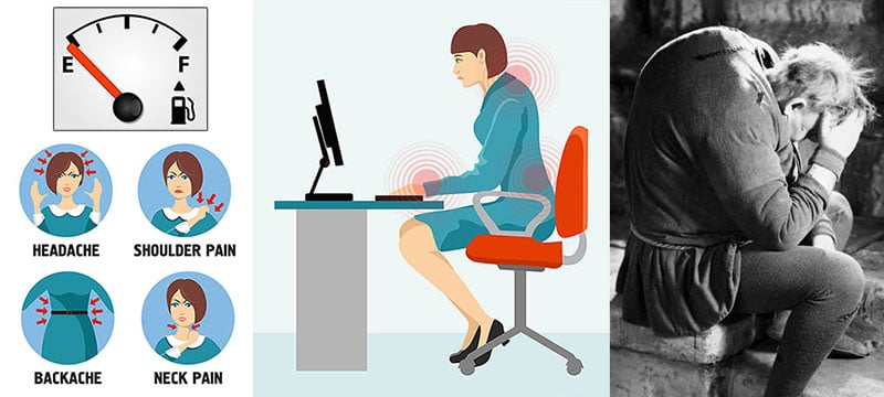 Negative effects of poor sitting habits