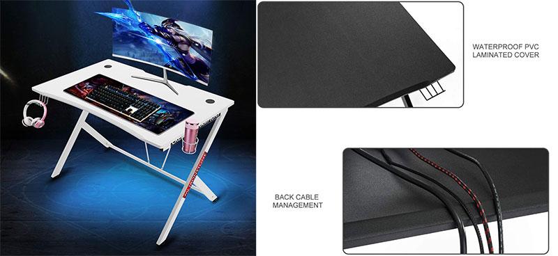 Mr. Ironstone white edition gaming desk