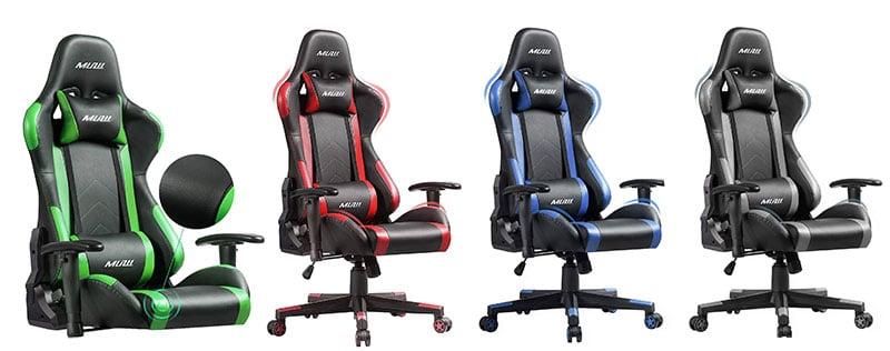 Muzzi PU leather gaming chairs on sale