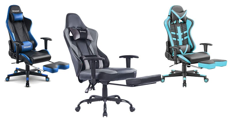 Office style footrest gaming chairs