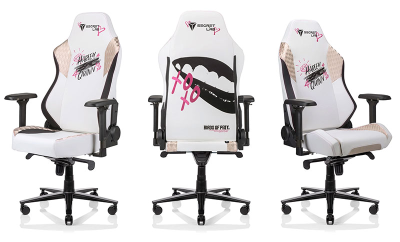Secretlab Birds of Prey Harley Quinn chair
