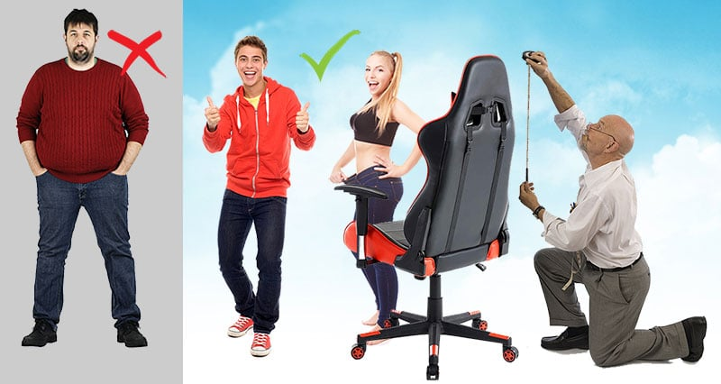 Gaming chair sizing guide