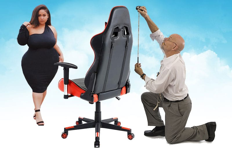 Gaming chair sizing