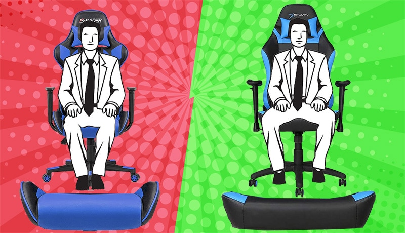Wide vs narrow gaming chair seats