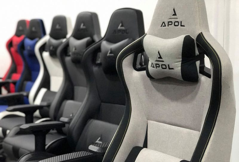 Apol chairs on display