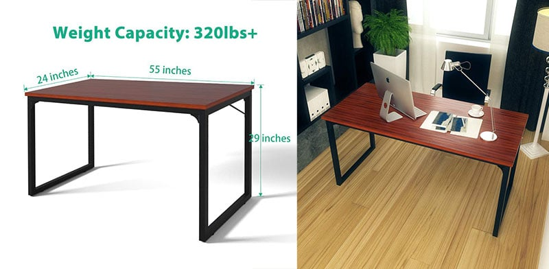 "Coleshome 47"" Simple Style Desk for Home Office"