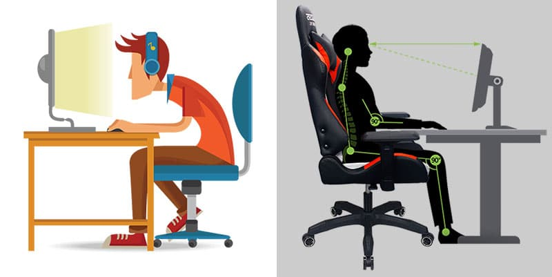 Gaming chair vs cheap study chair for students