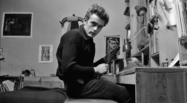 James Dean slouching