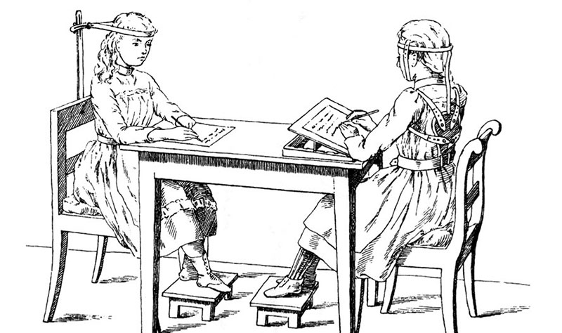 Posture correction devices in in 1855