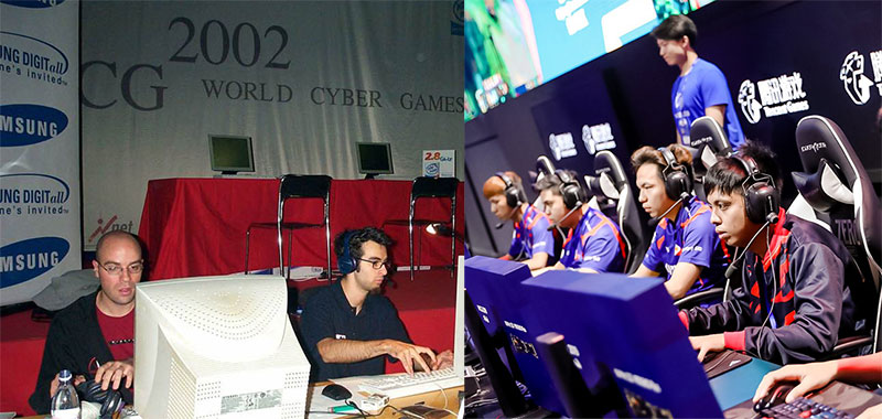 World Cyber Games evolution of gaming chairs