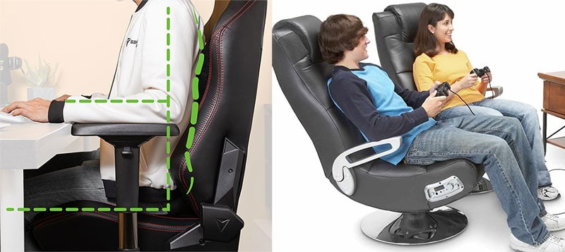 Console rocker versus PC chair arm support