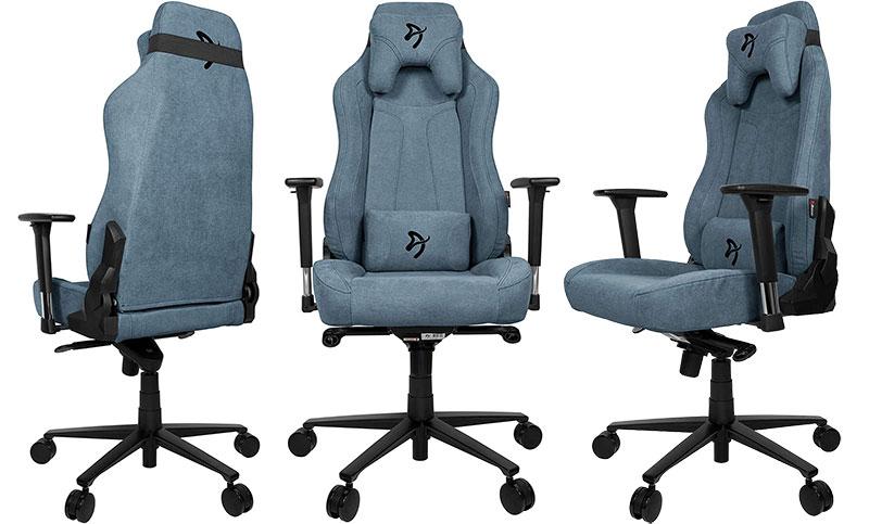 Arozzi Vernazza blue fabric chair