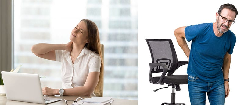 Pain caused by using a cheap chair for work