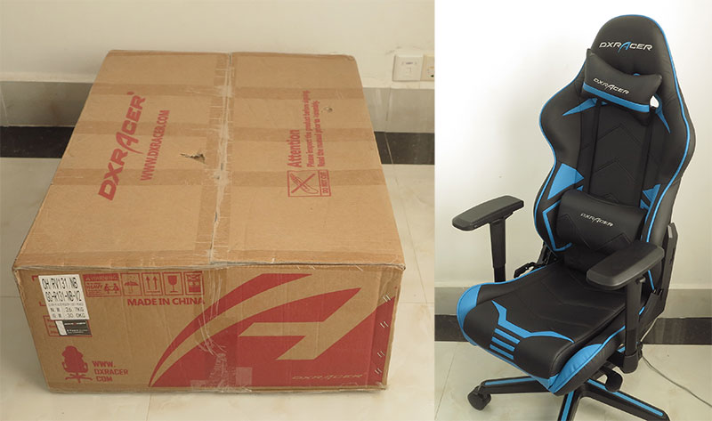 DXRacer assembly from start to finish.