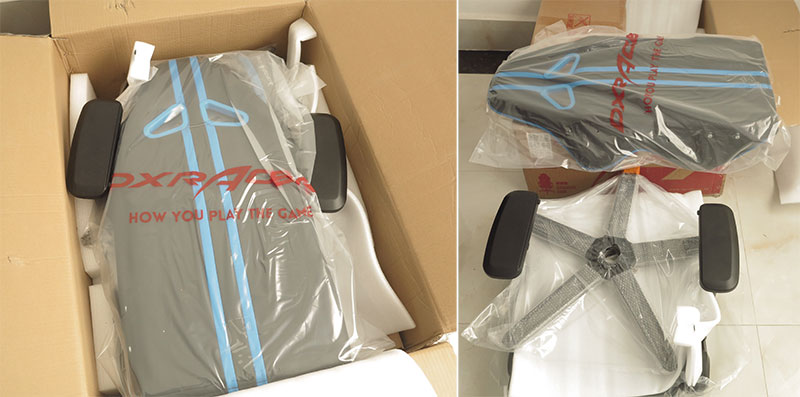 DXRacer gaming chair unboxing