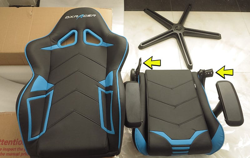 DXRacer attach seat to backrest