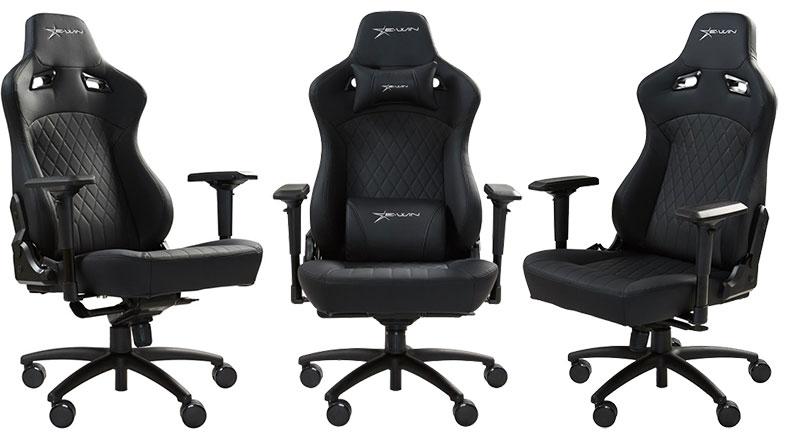 E-Win Flash Xl chair H-Series all-black edition